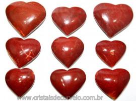 10 Coração Pedra Quartzo Vermelho Natural 4.7 a 6.5cm ATACADO