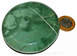 Massageador Disco Quartzo Verde Pedra Natural Cod 103301