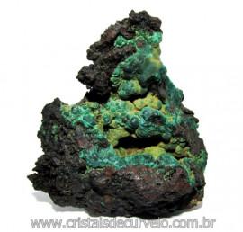 Malaquita Especial Matriz Mineral Pequeno Natural Cod 115423