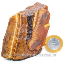 Olho de Tigre Pedra Extra Bruto Natural da África Cod 121225