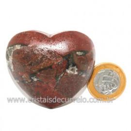 Coração Pedra Quartzo Jiboia Natural Lapidação manual Cod 118986
