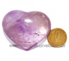 Coraçao Ametista Pedra Natural Ideal P/Presentear Cod 116121
