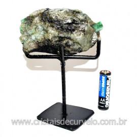 Esmeralda Canudo Pedra Natural com Suporte De Ferro Cod 119339