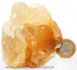 Calcita Mel Pedra Natural P/ Coleção e Esoterismo Cod 106623