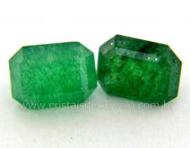 Gema Quartzo Verde Natural Quadrado Montagem Joia Ref GQ1445
