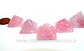 10 Piramide Quartzo Rosa Medida Baseada Quéops Reff MP1808