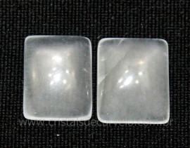 Par Retangulo Cristal Opalado Pedra Pra Brinco Reff RB6610