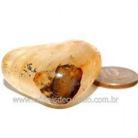 Hematoide Amarelo com Inclusão Dendrita Pedra Natural Cod 126196