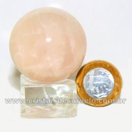 Esfera Quartzo Rosa Pequena Boa Qualidade Mineral Cod 126929