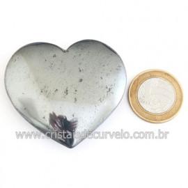 Coração Hematita Pedra Natural Lapidação Manual Cod 121881