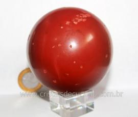 Esfera Jaspe Vermelho Pedra Natural Mineral de Rocha Lapidado Manual Cod 513.3