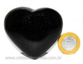 Coração Quartzo Preto Quartzito Negro Pedra Natural Cod CP1720