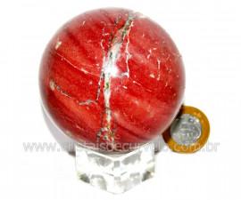 Esfera Dolomita Vermelha Pedra Mineral Natural Cod ED1473