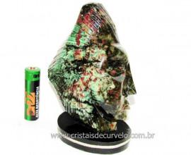 Busto de Artesanato Rosto Esculpido Pedra Esmeralda Cod RE4289