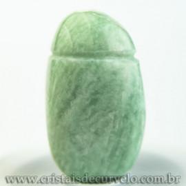 Pingente Pedra Rolada Amazonita Difusor Aromaterapia Ranhurado
