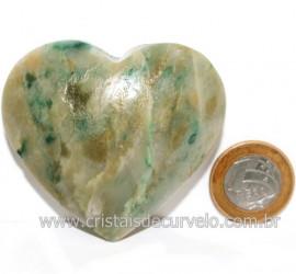 Coraçao Jade Verde Natural Origem Montes Claros MG Cod 121621