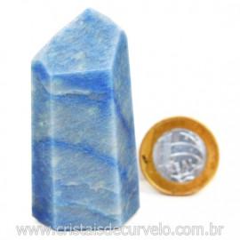 Ponta Quartzo Azul Pedra Natural Gerador Sextavado Cod 127775