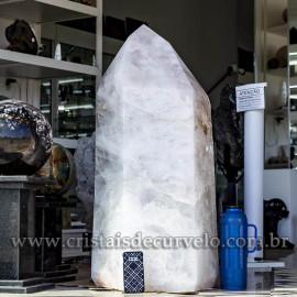 Ponta Cristal Gigante 270Kg Quartzo Polido Ótimo Brilho 121080