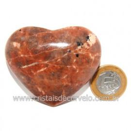 Coração Amazonita Pêssego Pedra Natural de Garimpo Cod 119047