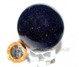 Esfera Pedra Estrela Pigmentado Cintilante Azul Cod PE4933