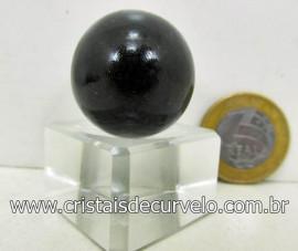 01 Mini Bola Cristal Negro Esfera Pedra Natural e Pequena Cod 29.3