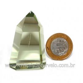 Ponta Obsidiana Verde Cristalizada Transparente Cod 123131