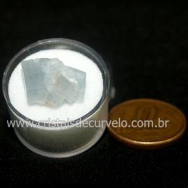 Calcita Azul do Mexico no Estojo Pedra Natural Cod 126649