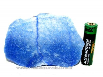 Quartzo Azul ou Aventurina Azul Pedra Bruto Natural Cod QA4001
