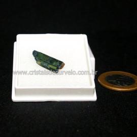 Estojo Lamina Vivianita Pedra Bruta Natural Coleção Cod 128639