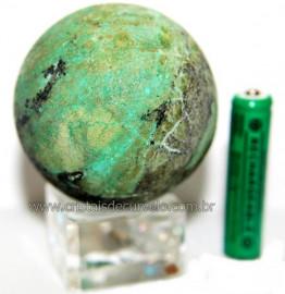Esfera Crisocola Azul Pedra Comum Natural Garimpo Cod 106326