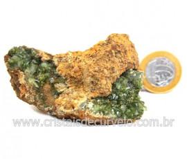 Ludlamita Pedra Matriz Siderita Bruta Natural Coleção Cod 127875