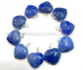 05 Pingente Coração Quartzo Azul Prata 950 Garra REFF CP8629