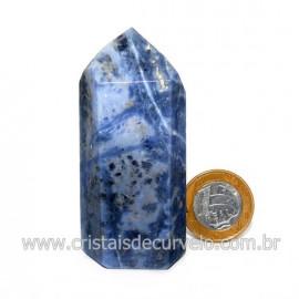 Ponta Sodalita Pedra Natural Gerador Sextavado Cod 128893