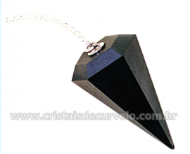 Pendulo HEMATITA Pedra Natural P Radiestesia Lapidação Facetado Brinde Corrente