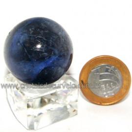 Esfera Sodalita Azul Bola Pedra Natural Garimpo Cod 113495