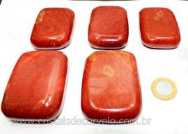 20 Massageador Sabonete Pedra Quartzo Vermelho 6 a 8cm Terapeutica