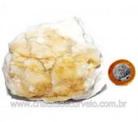 Selenita Laranja Pedra Natural Para Esoterismo Cod 123984