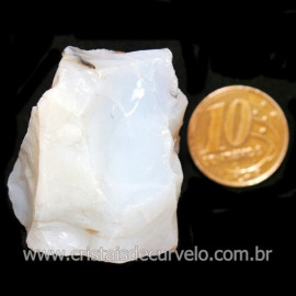 Opala Branca Pedra Genuina P/Coleçao ou Lapidaçao Cod 123826