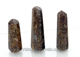 Pontinha Gerador BRONZITA Pedra Extra Lapidado Tamanho 2.5  Cm