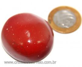 Massageador Cabochão Jaspe Vermelho Pedra Natural Cod 111081