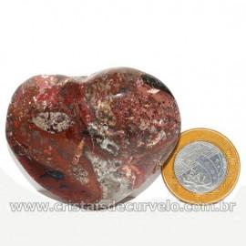 Coração Pedra Quartzo Jiboia Natural Lapidação manual Cod 126882