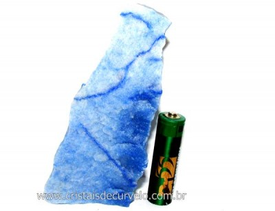 Quartzo Azul ou Aventurina Azul Pedra Bruto Natural Cod QA7381