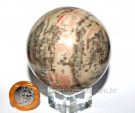 Esfera Pedra Dolomita Cinza Bola Mineral Natural Cod ED4261