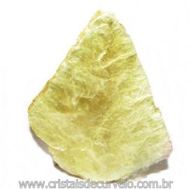 Chapa de Mica Amarela Bruta Natural de Garimpo Cod 115595