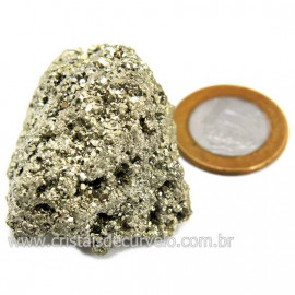 Pirita Peruana Pedra Extra Com Belos Cubo Mineral Cod 124224