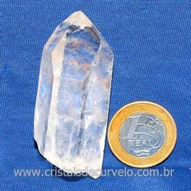 Ponta Cristal Bruto Quartzo de Garimpo Natural Cod 123909