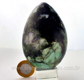 Ovo Esmeralda Bahia Lapidado Artesanal Pedra Para Colecionador Exigente Cod 448.4