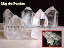 01 kg Cristal Ponta Lapidado MEDIO 200 a 350 GR ATACADO