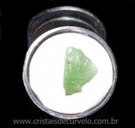 Espodumena Verde Fonte Litio Pedra Natural No Estojo  115675