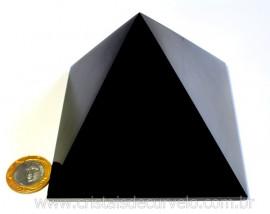 Pirâmide GRANDE Pedra Obsidiana Negra Natural Queops cod PG7109
